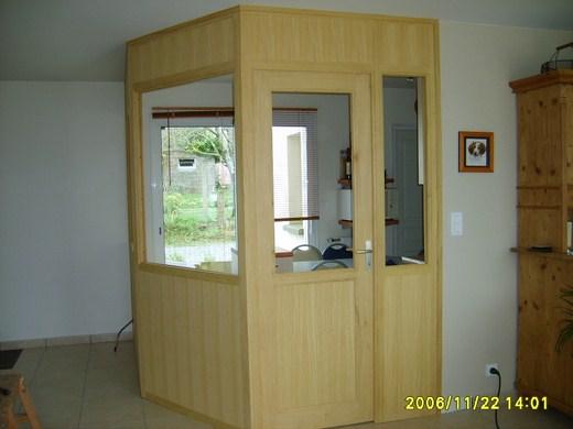 Showroom Lesquel Exemple de réalisation d'une cloison d'intérieur