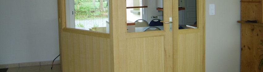 Realisation d'une cloison d'intérieure en bois